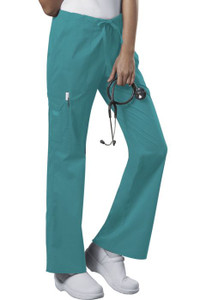 (4044) Cherokee Workwear Originals Core Stretch  Mid Rise Drawstring Cargo Pant