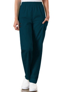(4200P) Cherokee Workwear Scrubs Originals - Natural Rise Tapered Pull-On Cargo Pant (Petite)