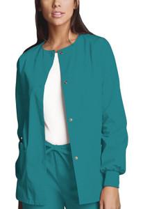 (4350) Cherokee Workwear Scrubs Originals Snap Front Warm-Up Jacket