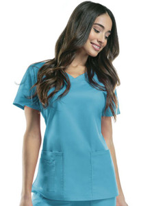 (4727) Cherokee Workwear Scrubs Core Stretch V-Neck Top