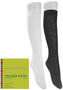 (TROUSERSOCK) Cherokee Footwear - 8 Mmhg Compression Trouser Socks 3 Pair