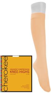 (YKHTS2) Cherokee Footwear - 12 Mmhg Compression True Support Knee Highs