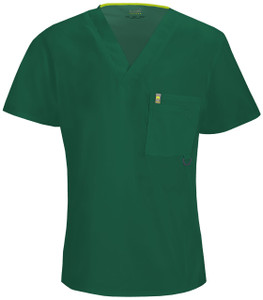 (16600A) Code Happy Bliss Scrubs - Mens V-Neck Top