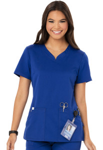 (CH602A) Code Happy Cloud Nine Scrubs - CH602A V-Neck Top