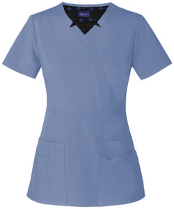 "(SA600A) Sapphire Scrubs - ""Madison"" Mock Wrap Top"