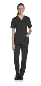 (9049) UFlex By Urbane Scrubs - UFlex Crossover V-Neck Top