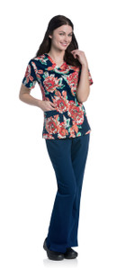 (9051-HMPS) Urbane Prints Scrubs - V-Neck Tunic