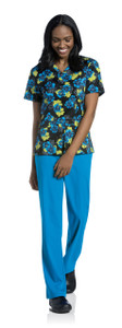 (9051-PPSPS) Urbane Prints Scrubs - V-Neck Tunic