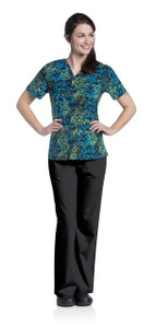 (9051-WCPSL) Urbane Prints Scrubs - V-Neck Tunic