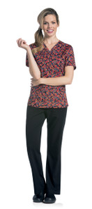 (9051-WLPSL) Urbane Prints Scrubs - V-Neck Tunic