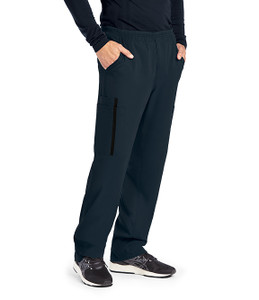 (0219S) Grey's Anatomy Impact Scrubs - Men's 6 Pocket Zip Fly Double Cargo Scrub Pant (Short)