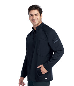 (0918) Grey's Anatomy Impact Scrubs - Men's Ascend Zip Front Solid Scrub Jacket
