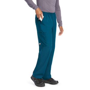 (SK0215T) Skechers Scrubs - Men's 4pkt Structure Cargo Pant (Tall)