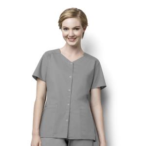 (200) WonderWink WonderWORK Women's - Short Sleeve Snap Front Top