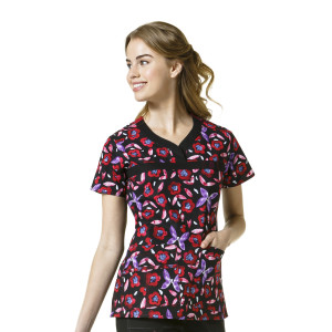 (6278) WonderWink WonderFLEX Women's Patience Print Top