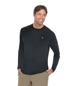 (BWK801) Barco One Wellness Men's Crew Neck Long Sleeve Raglan Tee