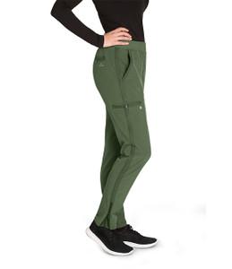 (BWP505P) Barco One Wellness Women's 5 Pocket Knit Waist Cargo Pant (Petite)