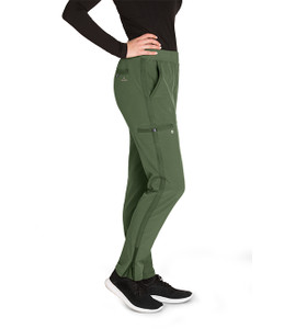 (BWP505P) Barco One Wellness Women's 5 Pocket Knit Waist Cargo Pant (Petite)