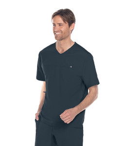 (BWT010) Barco One Wellness Men's Motion V-Neck Single Pocket Top