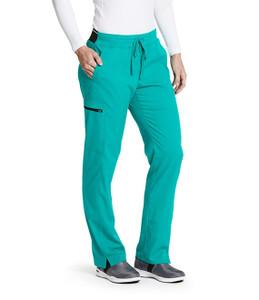 (GRSP500) Grey's Anatomy Spandex Stretch 3 Pocket Midrise Elastic Waistband Cargo Scrub Pant