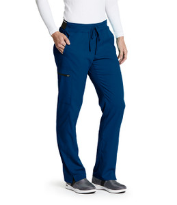 (GRSP500P) Grey's Anatomy Active Stretch 3 Pocket Midrise Elastic Waistband Cargo Scrub Pant (Petite)
