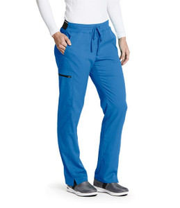 (GRSP500T) Grey's Anatomy Spandex Stretch 3 Pocket Midrise Elastic Waistband Cargo Scrub Pant (Tall)
