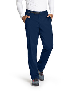 (GRSP507) Grey's Anatomy Active Stretch Men's 4 Pocket Belted Waist Cargo Pant