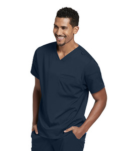 (GRST009) Grey's Anatomy Spandex Stretch 3 Pocket Sport V-Neck Back Yoke Scrub Top