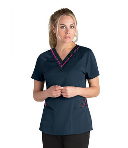 (GVST017) Grey's Anatomy Active Stretch 3 Pocket Print Jersey