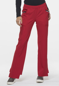 (EL150P) Elle Simply Polished Contrast Trim Cargo Pocket Scrub Pants (Petite)