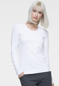 (EL915) Elle Simply Polished Curved Hem Long Sleeve Underscrubs