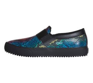 (RUSH-MSBK) Cherokee Infinity Women's Rush Classic Sneaker - MultiSnake-Black