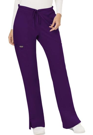 (WW120P) Cherokee Workwear Revolution Scrubs - WW120 Mid Rise Moderate Flare Drawstring Pant (Petite)