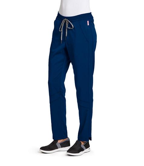 (GVSP509P) Grey's Anatomy Active Stretch 3 Pocket Knit Waist Midrise Cargo Scrub Pant (Petite)