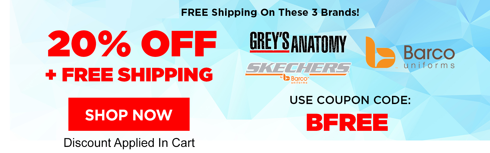 20% Off Grey's Anatomy, Barco, Skechers