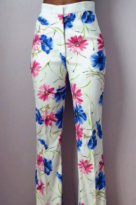 Daisy Floral Print Flare Pant