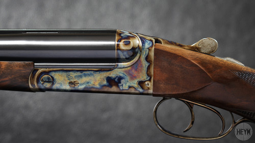The 89B base grade rifle is offered with no engraving and case colors (bone and charcoal.)