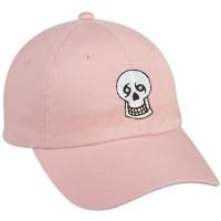 Skull Dad Hat (light pink)