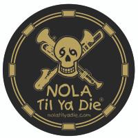 NOLA Til Ya Die Music Sticker (black/gold)