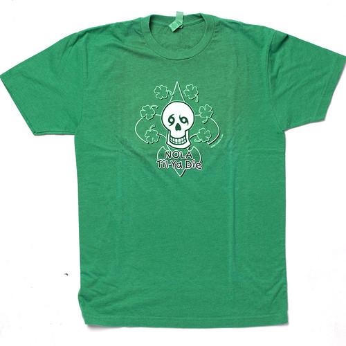 NOLA Til Ya Die Clover Unisex Tee (green)