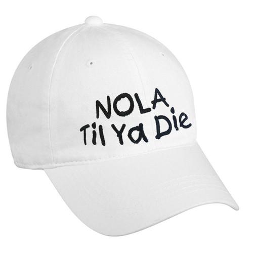 NOLA Til Ya Die Dad Hat (white)