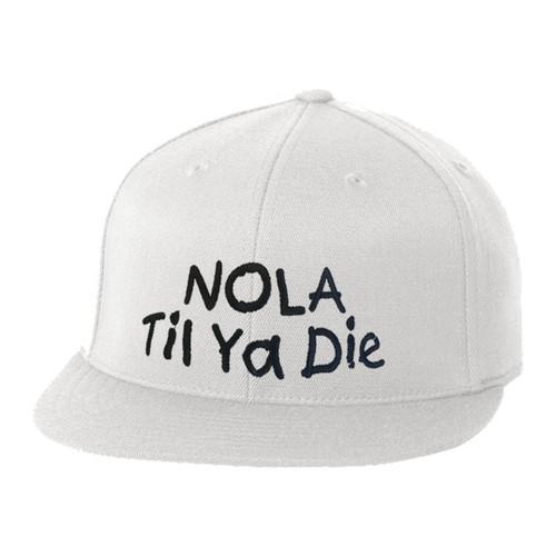 NOLA Til Ya Die Fitted Hat (white)