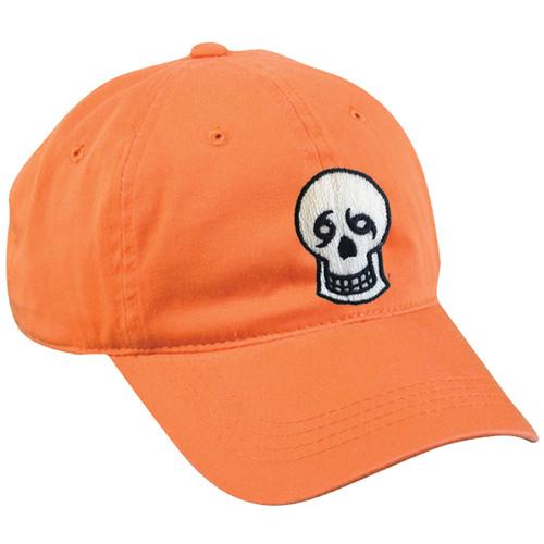 Skull Dad Hat (orange)