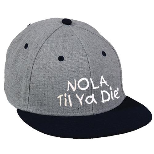NOLA Til Ya Die Fitted Hat (grey/black)