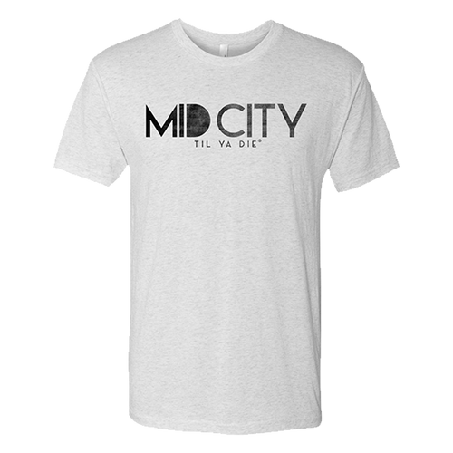 MID CITY Til Ya Die Unisex Tee (white) REJECT