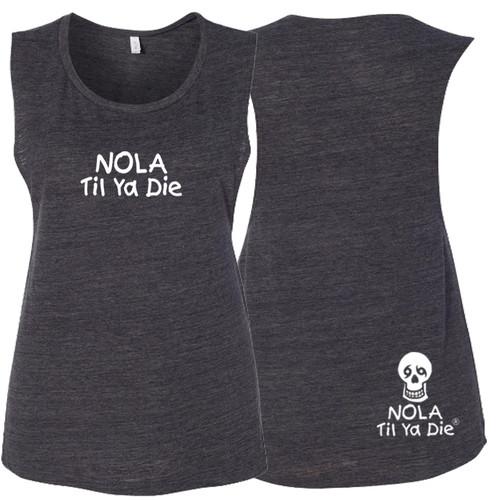 NOLA Til Ya Die Logo Women's Muscle Tank