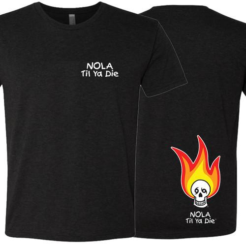 NOLA Til Ya Die Fire Unisex Crew Neck