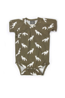 Kate Quinn 100% Organic Cotton Short Sleeve Kimono Bodysuit, Fox