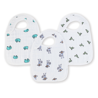 aden+anais Cotton Muslin Snap Bibs, Jungle Jam