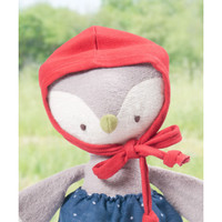 Hazel Village - Lucy Owl in Blue Skirt and Bonnet